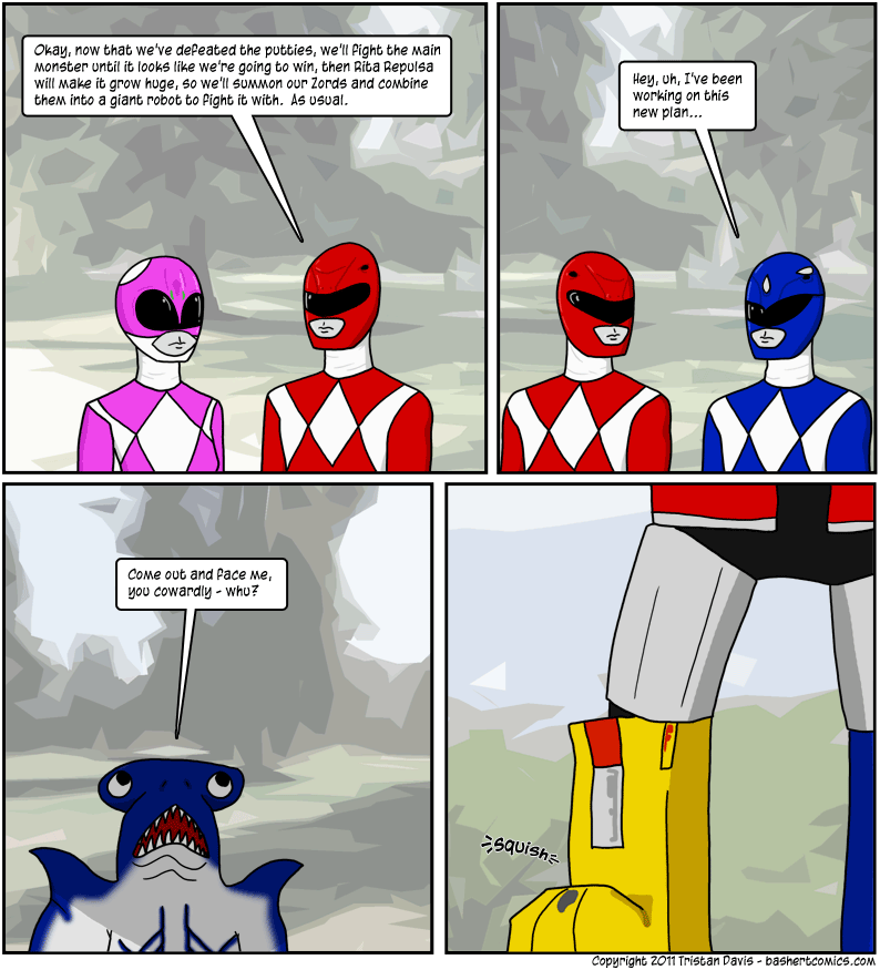 Maybe the power rangers are just really committed to the idea of a fair fight, and refuse be first to escalate