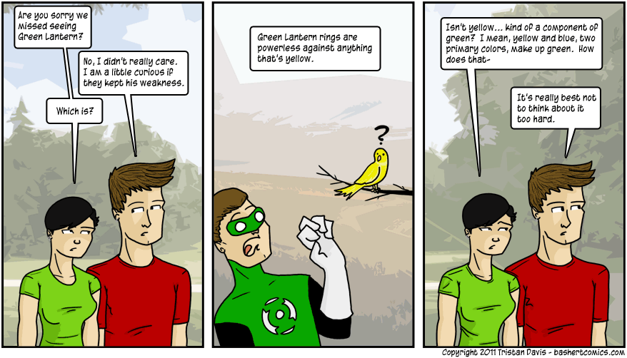 """yellow is not a """"flaw"""" in green, it is an integral component of green"""